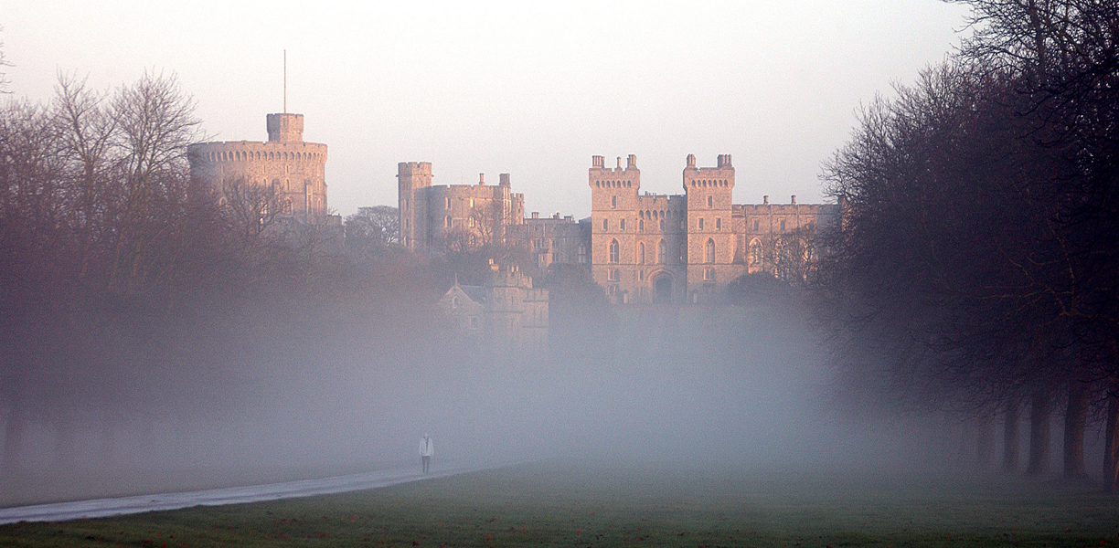 Windsor Castle in the mist