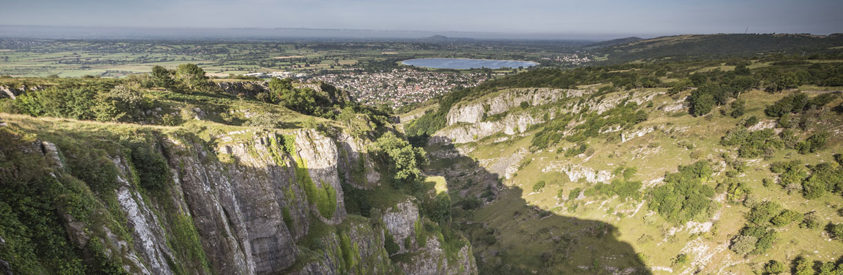 The view from the top of Cheddar Gorge
