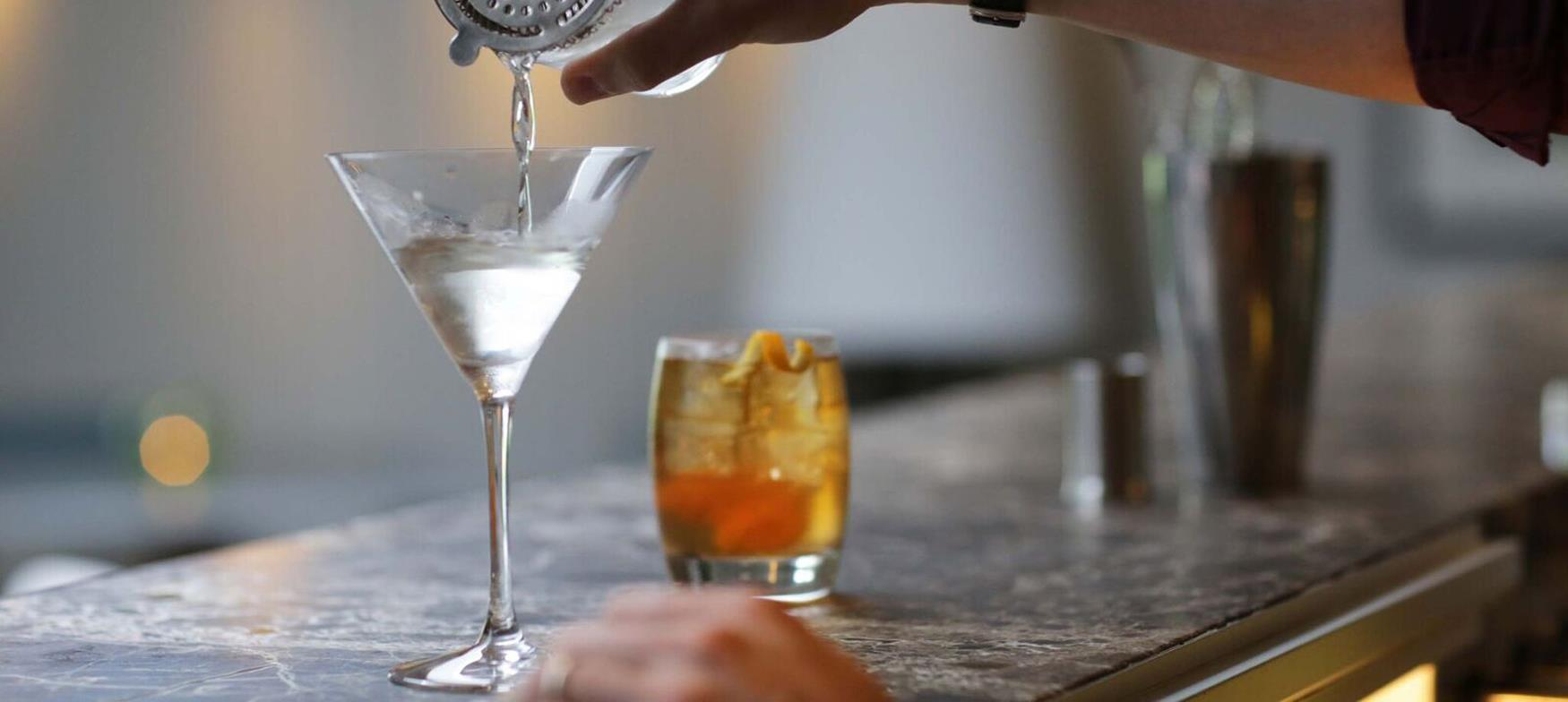 Treat yourself to a cocktail in a trendy city bar