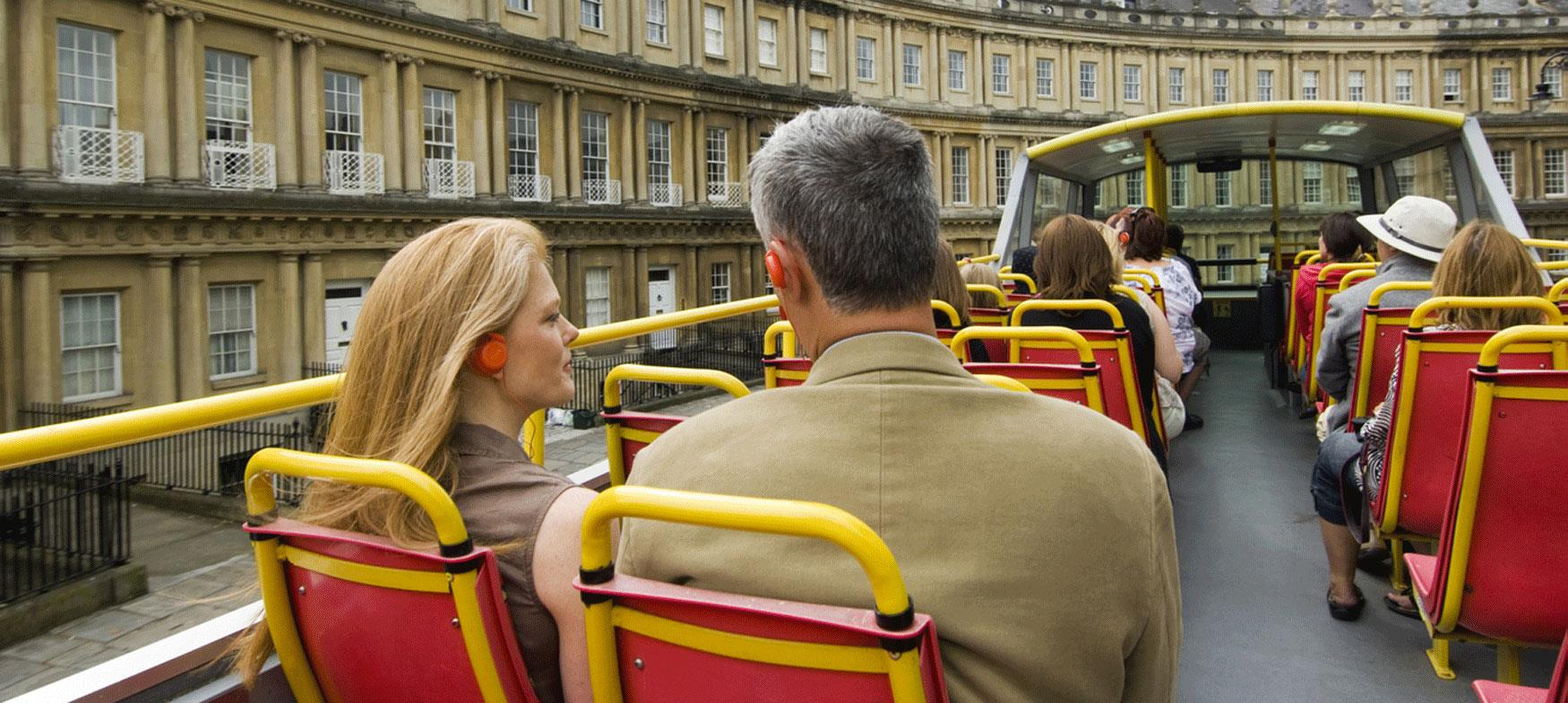 For the stories behind the views, take an open top bus tour