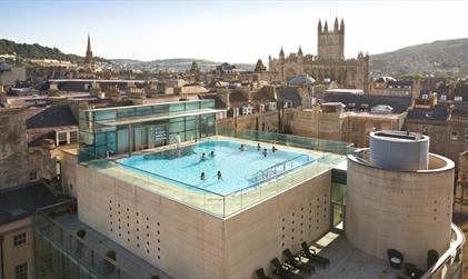 Thermae Bath Spa Rooftop Pool by Day