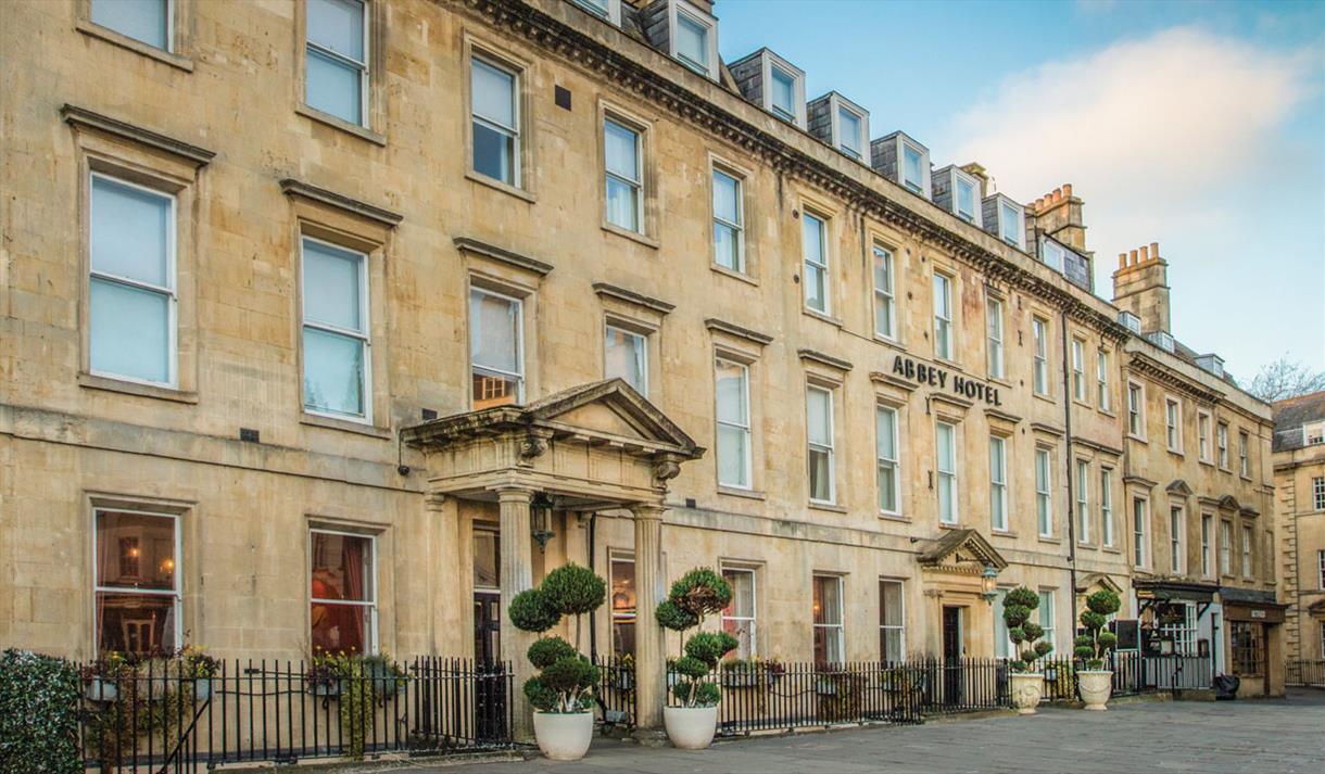 Outside Abbey Hotel, Bath