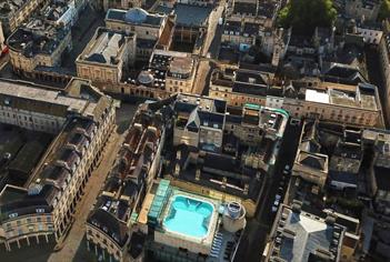 Therrmae Bath Spa from above